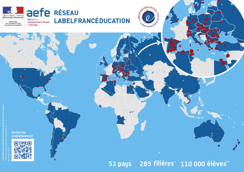 Carte Belgique Enseignement.Carte Des Etablissements Labelfranceducation Marque De Qualite